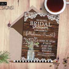 Rustic Country Bridal Shower Invitations As An Additional Inspiration To Create Easy Remember Invitation 19
