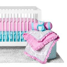 sweet jojo designs crib bedding set skylar 11pc pink target