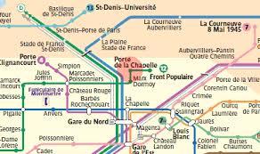 metro denis porte de porte de la chapelle station map metro