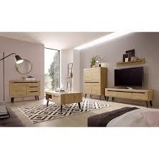 wohnzimmer set in eiche artisan mit schwarz tirol 61 skandinavisches d