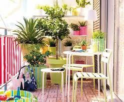 Colorful Pot On Flowering Balcony Garden