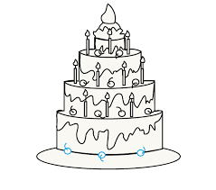 How to Draw a Cake Step 12