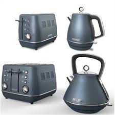 Evoke Special Edition Blue Steel Kettle And Toaster Set