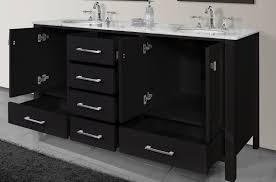 72 Inch Wide Double Sink Bathroom Vanity by Stufurhome Malibu 72 Inch Espresso Double Sink Bathroom Vanity