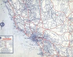 California State Map Rand Mcnally