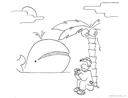And The Whale Coloring Sheet Page Free Jonah