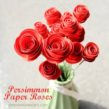 Step By Tutorial To Create Persimmon Paper Roses