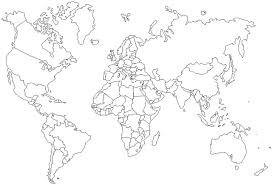 Full Size Of Coloring Pageworld Page Outline Map 2 Large Thumbnail