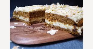 süßkartoffel möhren torte mit cashew orangen creme