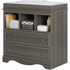 Baby Changing Dresser With Hutch by South Shore Savannah Changing Table Multiple Finishes Walmart Com