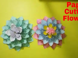 HOW TO MAKE PAPER CUTTING FLOWERS