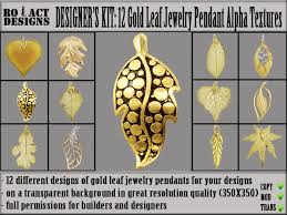 Second Life Marketplace RO ACT DESIGNS 12 Gold Leaf