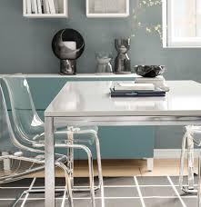 torsby tisch verchromt hochglanz weiß 135x85 cm
