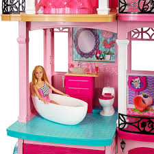 Shop Gymax 46 Pink Dollhouse W Furniture Gliding Elevator Rooms 3 Levels Young Girls Toy Free Shipping Today Overstock 22996246 Barbie Doll Dream House With Elevator