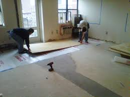 Plywood Floors Placing First Sheet Sally Schneider
