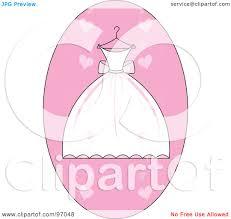 Pink Wedding Dress Clipart Wedding Dress A Hanger Stock