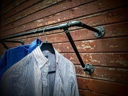 Decorative Metal Garment Rack by Heavy Duty Wall Mounted Clothes Rack Wall Mounted Clothes