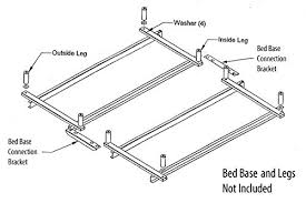 Tempur Pedic Ergo Headboard Brackets by Amazon Com Bed Connecting Brackets For Adjustable Beds Kitchen