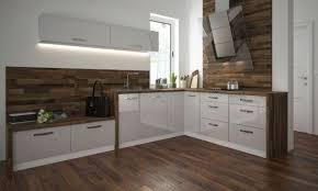 l form küchenzeile essen einbauküche 290x210cm weiß front weiß acryl hochglanz