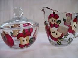 Appleshand Painted Cream And Sugar Set By On Etsy Find This Pin More AppleDecor