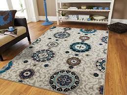 Ivory Contemporary Rugs For Living Room 8x11 Modern Rug Dining 8x10 Clearance Flower