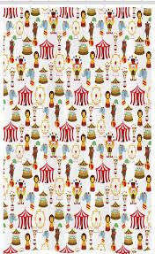 abakuhaus duschvorhang badezimmer deko set aus stoff mit haken breite 120 cm höhe 180 cm bunt zirkus elefant bär kaufen otto