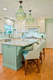 Turquoise And Teal Coastal Kitchen Remodel Kevin Thayer Interior Design
