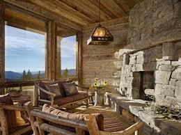 Mountian Retreat Rustic Sunroom