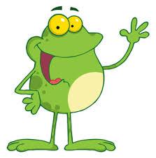 Frog Clipart Image Cartoon Frog Waving