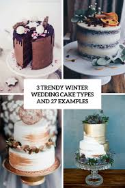 3 Trendy Winter Wedding Cake Types And 27 Examples