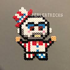 Halloween Hama Bead Patterns by Captain Spaulding Perler Bead Magnet Rob Zombie By Harmonart2