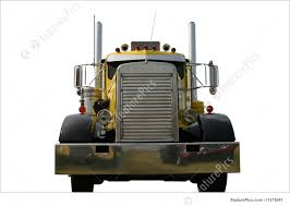 Photo Of Front Of Truck Yellow