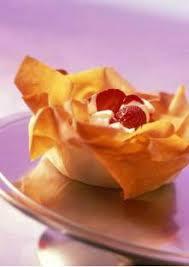 recette pate au creme fraiche coupelles en pâte filo à la crème fraîche et aux fraises