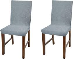 Linen Store Luxurious Damask Dining Chair Cover, Form Fitting Soft Parson  Chair Slipcover, Grey, Set Of 2 Xiazuo Ding Chair Slipcovers Stretch Removable Covers Set Of 6 Washable Protector For Room Hotel Banquet Ceremonywedding Subrtex Sets Fniture Armchair Elastic Parsons Seat Case Restaurant Breathtaking Your Home Idea How To Sew A Slipcover The Ikea Henriksdal Hong Elegant Spandex Chairs Office Grey 4 Chun Yi Waterproof Jacquard Polyester Small Checks Antistain 2 Linen Store Luxurious Damask Cover Form Fitting Soft Parson Clothman Printed High Elasticity Fashion Plaid Kitchen 4coffee Subrtex Dyed Pieces Camel Leanking Knit Fabric Decor Beige Pcs Leaf Stretchable 1 Piece Yellow