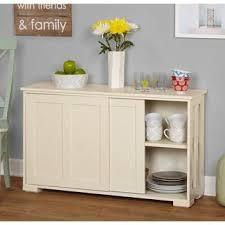 Simple Living Antique White Sliding Door Stackable Cabinet