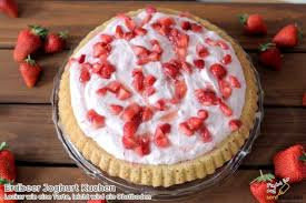 erdbeer joghurt kuchen rezept tortenboden mit kick