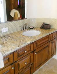 Peel And Stick Faux Glass Tile Backsplash by Bathroom Add Visual Interest To Your Bathroom With Bathroom