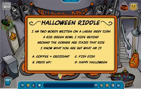 Halloween Scavenger Hunt Clue Cards by October 2007 Club Penguin Secrets