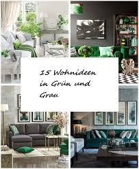 15 wohnideen in grün und grau grüne wohnzimmer schwarze