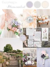 Luminous Lilac Gray Wedding Palette