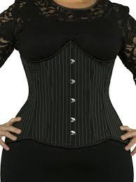 long plus size pinstripe corset cs 426 orchard corset