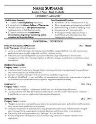 Pharmacist Resume Templates Free Nmdnconference Example