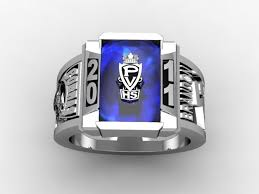 Custom Class Ring With Sapphire by Paul Michael Design
