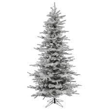 Flocked Artificial Christmas Trees Sale by Vickerman 7 5 U0027 Flocked Slim Sierra Artificial Christmas Tree