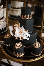 Luxurious Black and Gold Wedding Cake