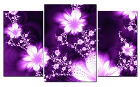 Purple Wall Decor Art Canvas And