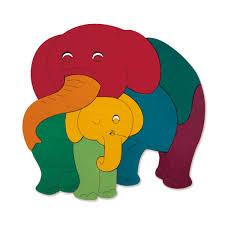 Hape Kitchen Set India by Hape Rainbow Elephant U0026 Baby E6505 Pirum