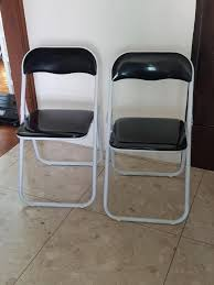 SET OF 2 FOLDING CHAIRS - BLACK & WHITE, Furniture, Tables ... 50 Pcs Spandex Fitted Folding Chair Covers For Chair Cover Festival Elastic Fabric Folding Fashion Printed Stretchable Protective Home Christmas Decoration Removable Hotel Rental Covers For White Details About Spandex Black White Or Ivory Wedding Reception Scuba Stretch Banquet Whosale Decor Recliner Seat Linen From Cheap Party Rent Find Singapore Various Outdoors Functions China Outdoor Chairs Silver Slipcovers Cotton Cheap Ccpyfdwh Black Lycar Cover Cap