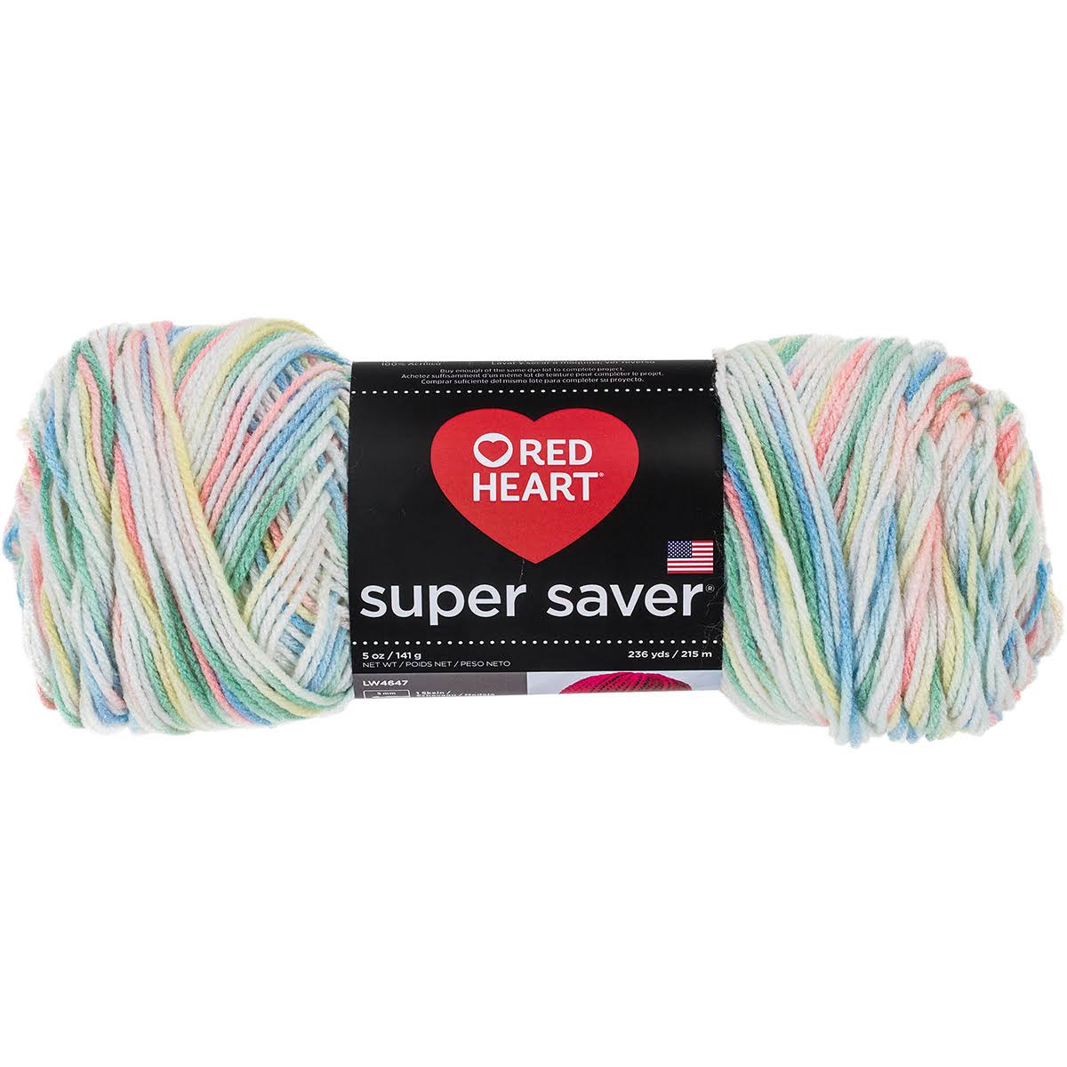 Red Heart Super Saver Multicolored Yarn Lovey - 5oz