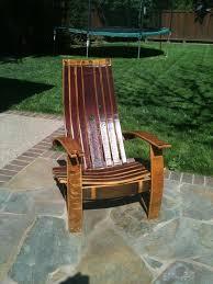 Ez Hang Chairs Fletcher Nc by Amazon Com Wine Barrel Adirondack Chair Patio Lawn U0026 Garden